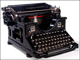 Resultado de imagem para máquina de escribir antigua