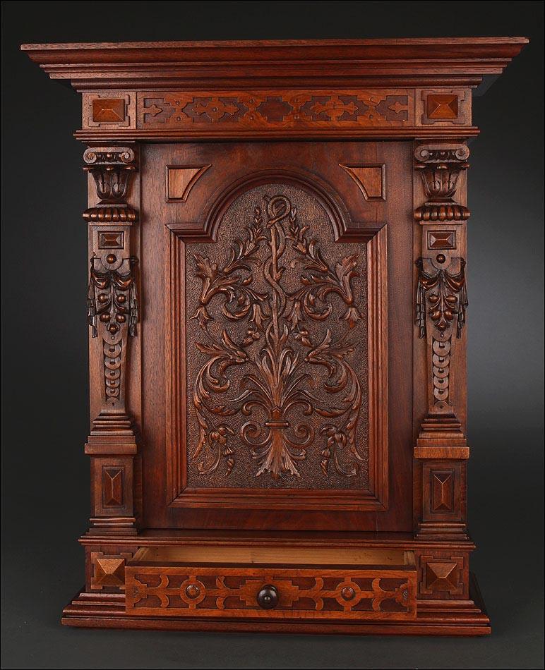 Rar simo armario botiqu n de madera tallada a mano alemania finales s xix en excelente estado - Botiquin antiguo ...
