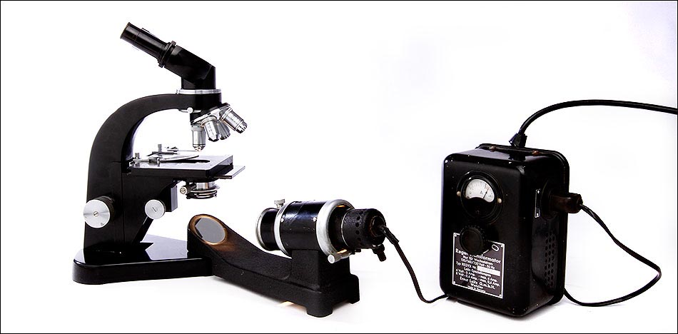 microscopio antiguo Leitz