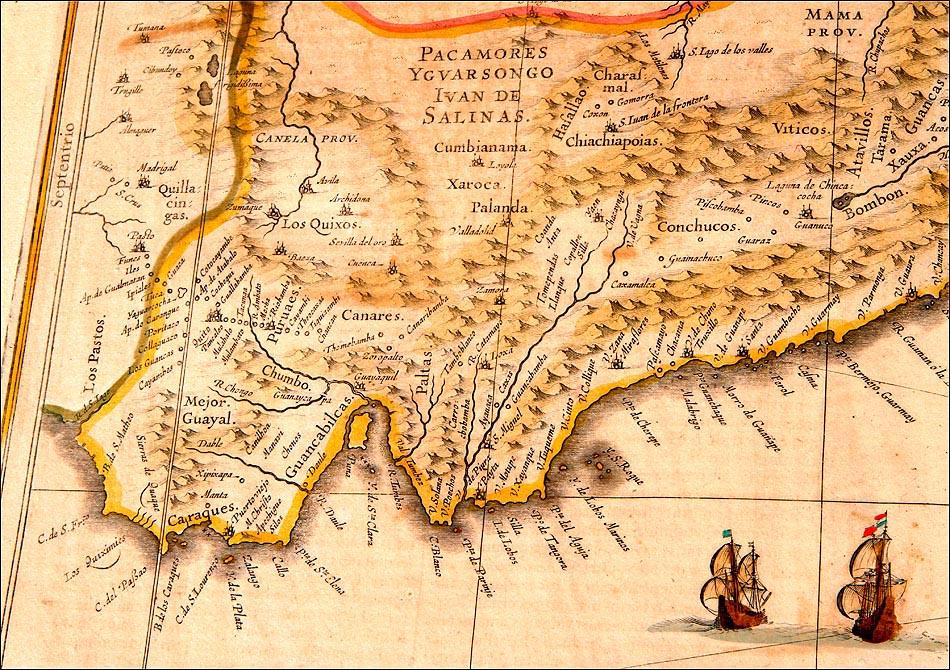 Mapa Antiguo Del Peru Del Ano 1638