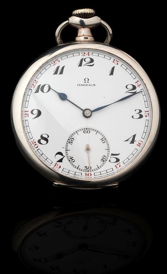 liberar información sobre apariencia elegante grandes ofertas Reloj de Bolsillo Omega Fabricado en Plata Maciza en 1925 ...