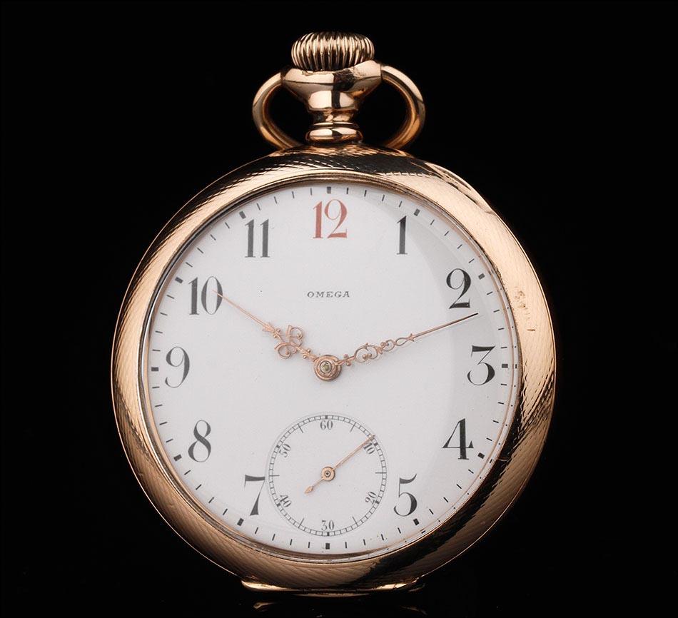a56ac32f1 Precioso Reloj de Bolsillo Omega Chapado en Oro. Año 1920. Muy Bien ...