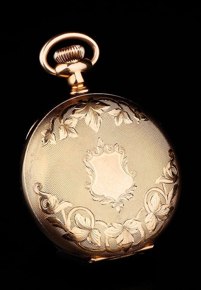 c935b432d Antiguo Reloj de Bolsillo Elgin Chapado en Oro. Estados Unidos, 1908