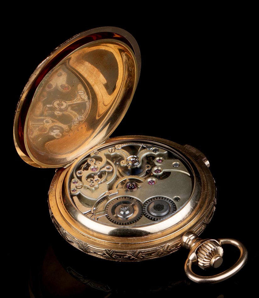 9f60f70b2 Antiguo Reloj de Bolsillo Sonería a Minutos y Oro 18 K. Suiza, Circa ...