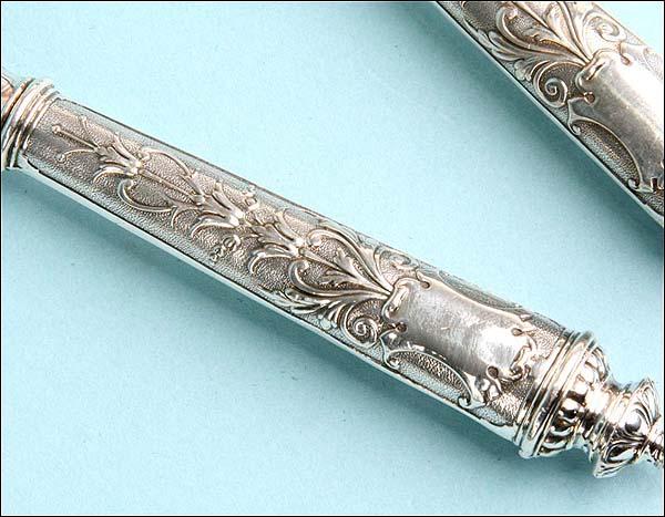 Pareja de cubiertos de servir plata s xix for Cubiertos de plata precio