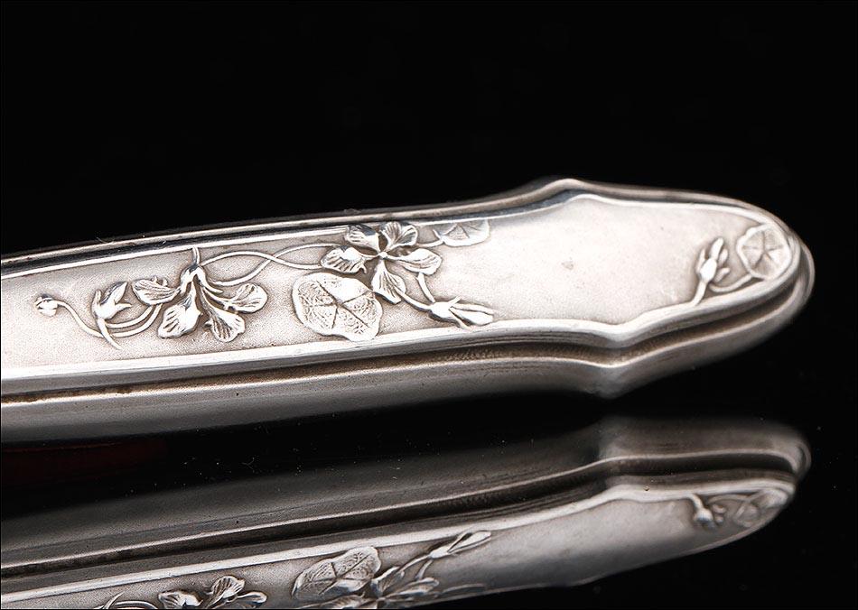 Cuberter a de plata maciza con doce tenedores para ostras - Precio cuberteria plata ...