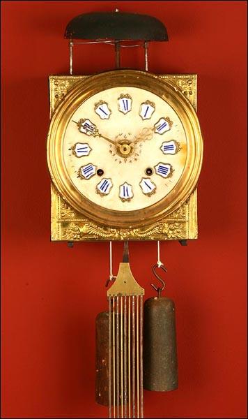 Antiguo reloj de pared de tipo morez francia ca 1900 - Mecanismo para reloj de pared ...