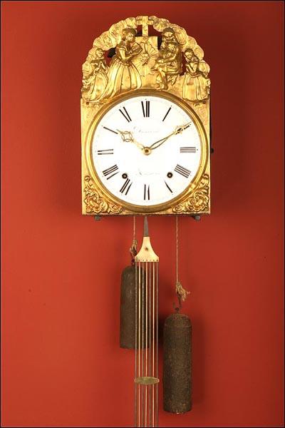 Antiguo reloj de pared de tipo morez francia ca 1850 1900 - Mecanismo para reloj de pared ...