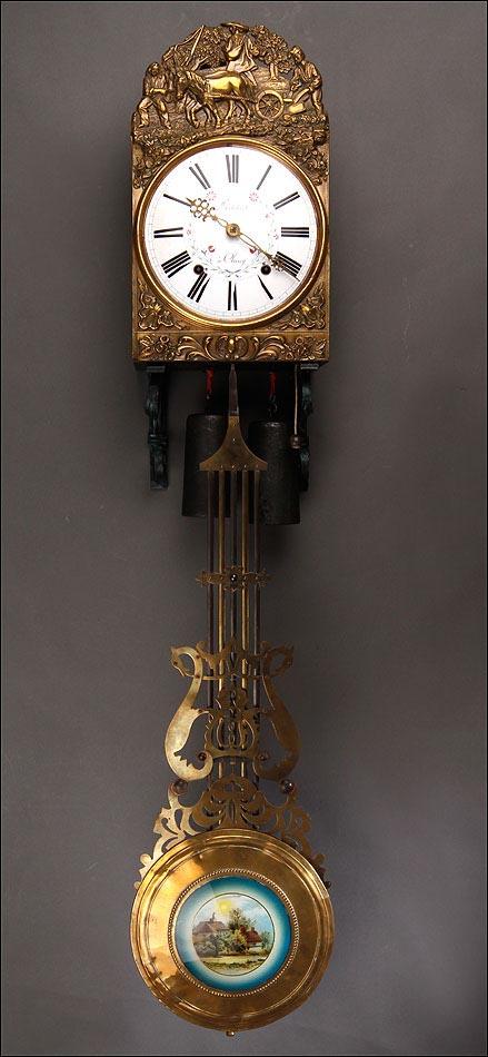 Reloj Fabricado Morez 1920Bronce Delicado De En Pared Francia wP0nOk
