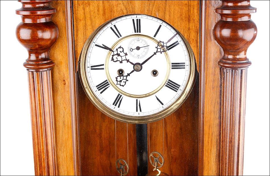 Reloj de pared antiguo regulador viena gustav becker en for Reloj de pared vintage 60cm