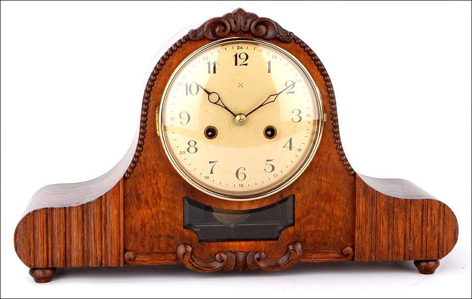 Precioso reloj de sobremesa junghans en perfecto - Relojes de sobremesa antiguos ...