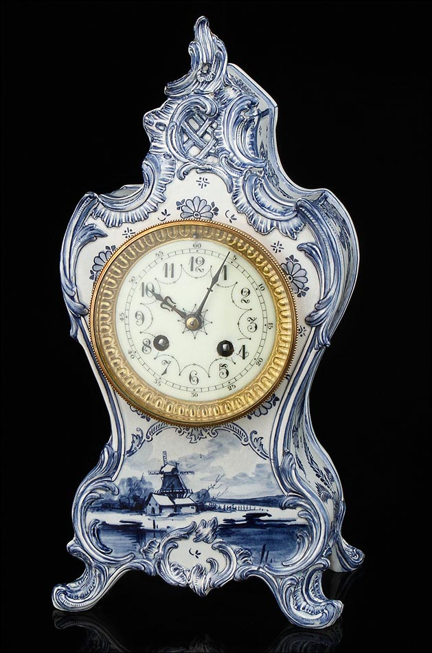 Antiguo reloj de sobremesa de porcelana francia siglo xix - Relojes de sobremesa antiguos ...